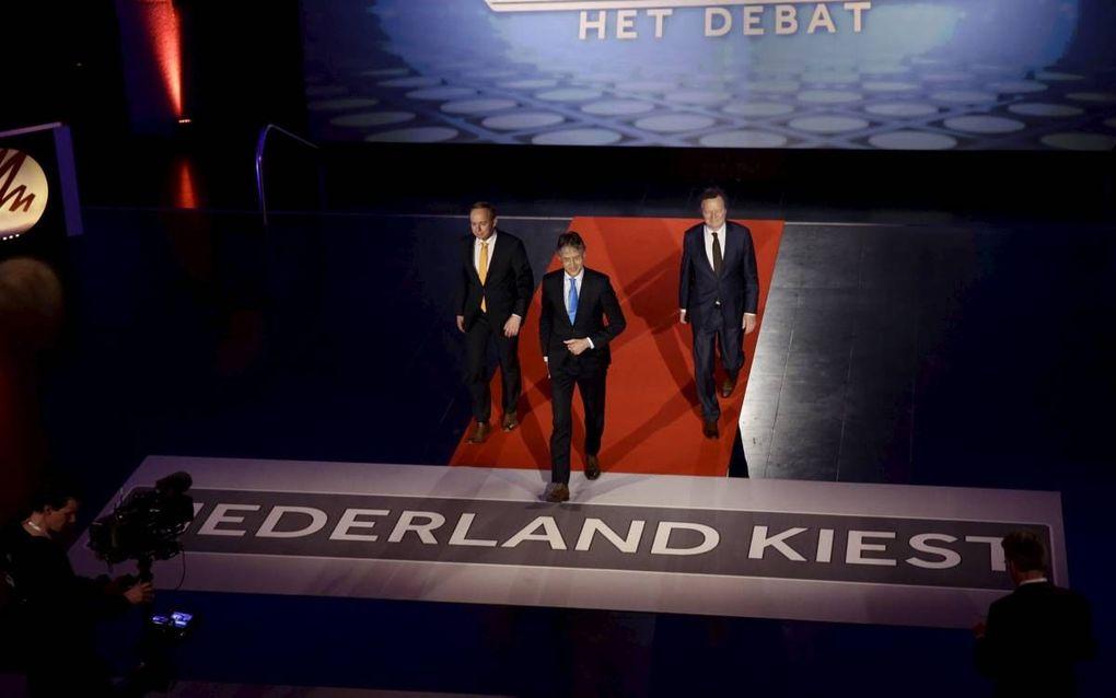 Ze komen er weer aan, de verkiezingen. Over een half jaar pas, weliswaar, maar de Haagse politici lopen zich al warm voor de campagne.  beeld ANP, Martijn Beekman