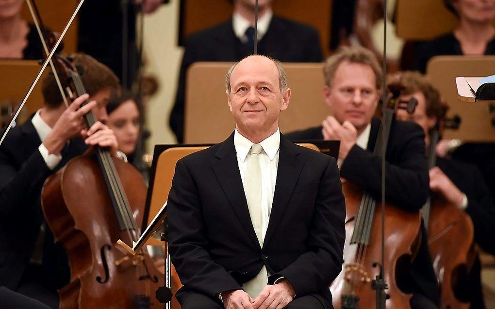 De Hongaarse dirigent Iván Fischer. beeld EPA, Britta Pedersen