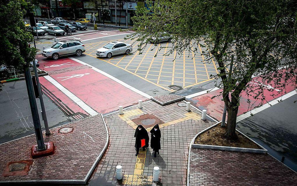 Straatbeeld in Mashhad. beeld ISNA / AFP