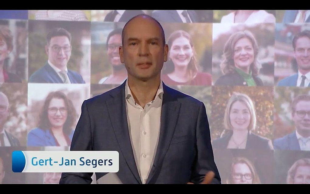 Screenshot CU-congres. beeld ChristenUnie.nl