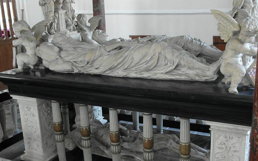 Graftombe in de Grote Kerk te Vianen. beeld Andre Bijl