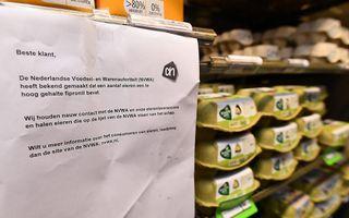 Augustus 2017: supermarkten halen eieren uit het schap omdat er fipronil in is aangetroffen. beeld AFP, John Thys