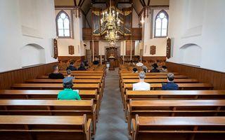 Oefenen voor een kerkdienst in coronatijd. beeld André Dorst