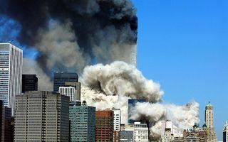 De Twin Towers in brand. beeld AFP