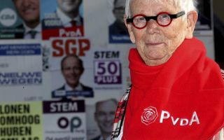 Het dramatische verlies van de PvdA doet zeer, zegt PvdA-lid Alie Kuiper-Docter uit Meppel. beeld Jacob Melissen