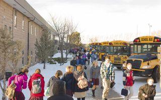 """Calvin Christian School (CCS) in Zuid-Alberta is een van de 26 scholen die een nieuwe onderwijswet in deze Canadese provincie aanvechten. """"De gevolgen van de wet zijn heel ernstig.""""beeld CCS"""