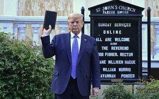 De Amerikaanse president Donald Trump. beeld AFP, Brendan Smialowski