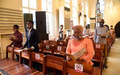 Christenen in Nigeria. beeld AFP, Pius Utomo Ekpei