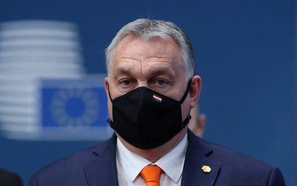 De Hongaarse premier Viktor Orbán. beeld AFP, Yves Herman