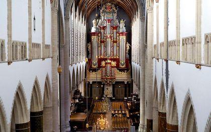 Het Müllerorgel in de Grote of Sint-Bavokerk in Haarlem. beeld Sjaak Verboom