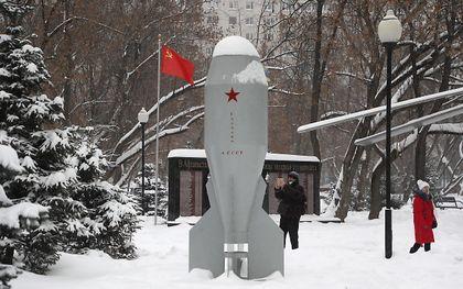 Replica van de eerste Russische nucleaire bom, RDS-4, in Moskou. beeld EPA, Maxim Shipenkov