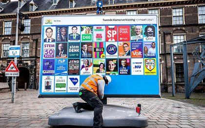 Verkiezingsposters. beeld ANP, Remko de Waal