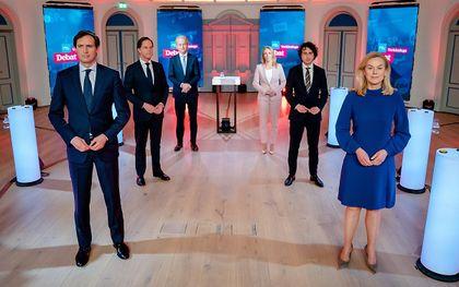 Deelnemers aan het RTL-debat. beeld ANP, BART MAAT