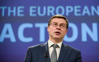 Dombrovskis. beeld AFP