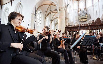 Uitvoering van de Matthäus Passion in Naarden, april 2014, door de Nederlandse Bachvereniging. beeld ANP, Martijn Beekman