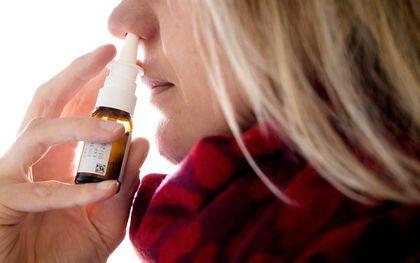 Budesonide kan als neusspray worden ingenomen. beeld ANP, Koen van Weel