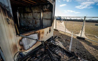 De in brand gestoken teststraat. beeld ANP, JEROEN JUMELET