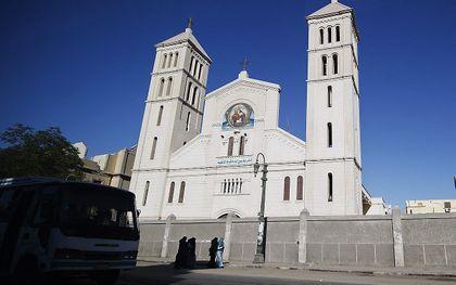 De in november ontvoerde koptische christen Nabil Habashi Salama is zondag door IS geëxecuteerd. Foto: koptisch kerkgebouw. beeld AFP, Gianluigi Guercia
