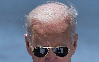 President Joe Biden had gisteren een primeur: tijdens de jaarlijkse toespraak aan de vooravond van de nationale biddag verzweeg hij als eerste president van de VS de naam van God.  beeld  AFP,  Brendan Smialowski