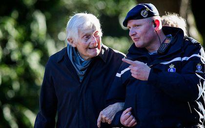 De destijds 102 jarige majoor Kenneth George Mayhew bij de Dodenherdenking in 2019 op Militair Ereveld Grebbeberg. beeld ANP, VINCENT JANNINK