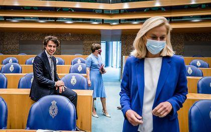 Kaag (D66), Klaver (GroenLinks) en Ploumen (PvdA). beeld ANP, Bart Maat