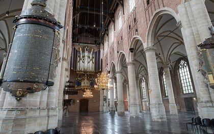 Interieur van de Pieterskerk in Leiden met het Van Hagerbeerorgel. beeld RD, Anton Dommerholt