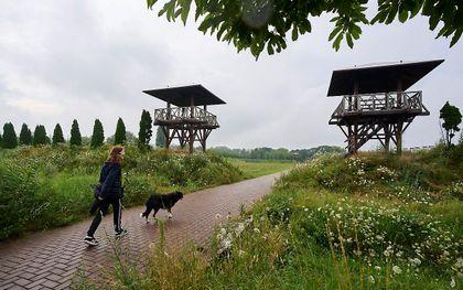 Park Matilo in Leiden, een reconstructie van een verdedigingsfort dat onderdeel was van de Romeinse Limes (Latijn voor grens).  beeld ANP PHIL NIJHUIS