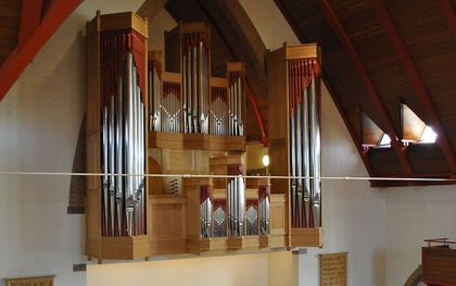 Het interieur van de Julianakerk in Dordrecht met het Edskesorgel. beeld Aad de Ligt