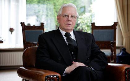 Ds. M. J. van Gelder (archieffoto uit 2009). beeld Sjaak Verboom