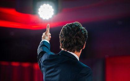 De Canadese premier Trudeau, dinsdag in Montreal. beeld AFP, Andrej Ivanon