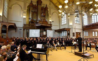 Oranjeconcert in de Grote Kerk in Apeldoorn, nog voor coronatijd. beeld RD, Anton Dommerholt