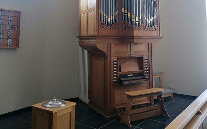 Het nieuwe orgel. beeld hersteld hervormde gemeente Emst-Epe