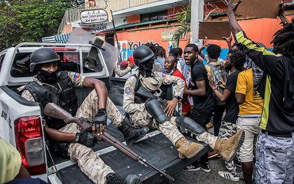 Leger in Haïti. beeld AFP, Valerie Baeriswyl