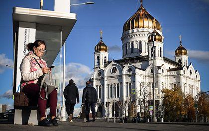 De grote Russisch-orthodoxe Basiliuskathedraal in Moskou. beeld AFP, Alexander Nemenov