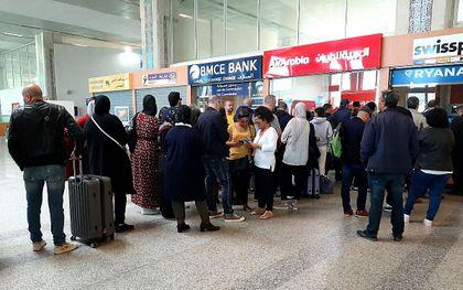Het vliegveld van Tanger. beeld AFP