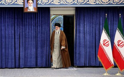De Iraanse hoogste leider, ayatollah Ali Khamenei. beeld AFP