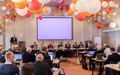 Eerdere gezamenlijke synodevergadering van de GKV en NGK (2020). beeld André Dorst