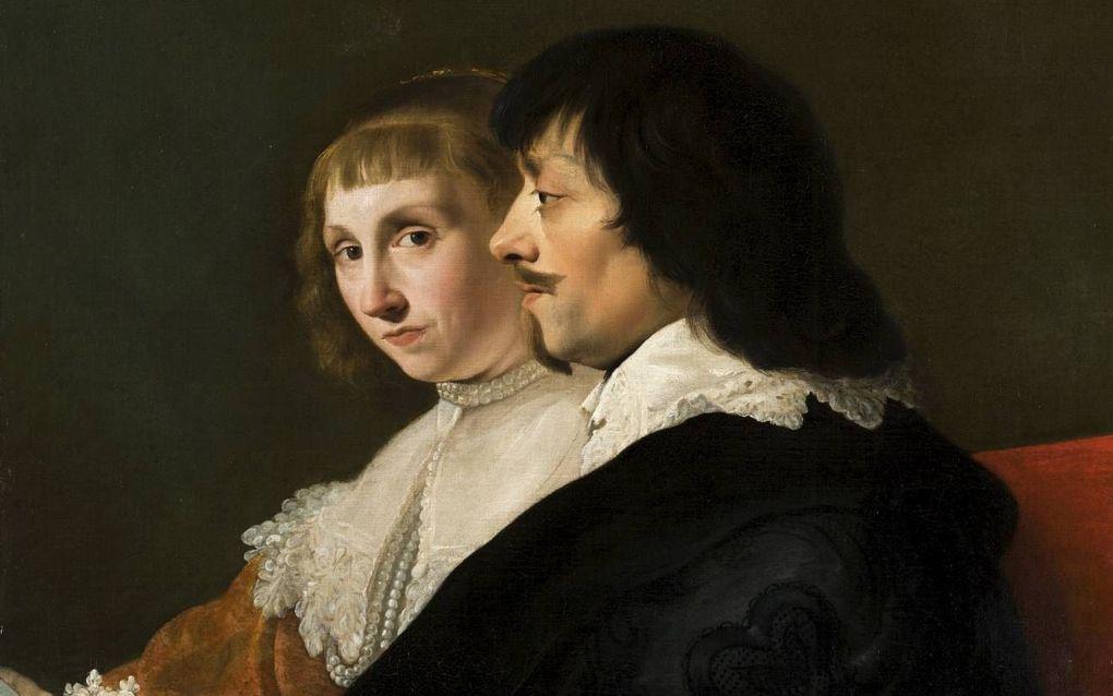 Dubbelportret van Constantijn Huygens (1596-1687) en Suzanna van Baerle (1599-1637), Jacob van Campen, ca. 1635. beeld Mauritshuis, Den Haag