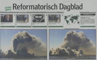 De voorpagina van de extra editie van 12 september 2001. beeld RD