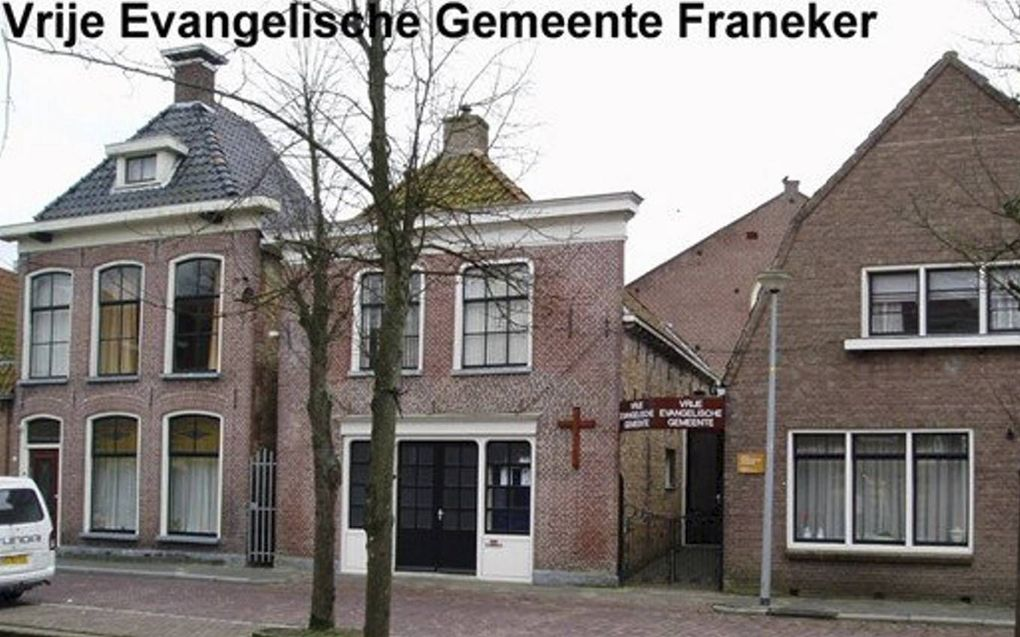 Het kerkgebouw in Franeker.beeld Friesch Dagblad