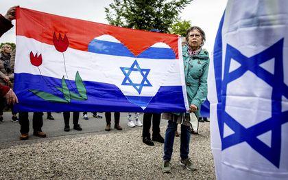 Pro-Israëldemonstratie in Den Haag. beeld ANP, Sem van der Wal