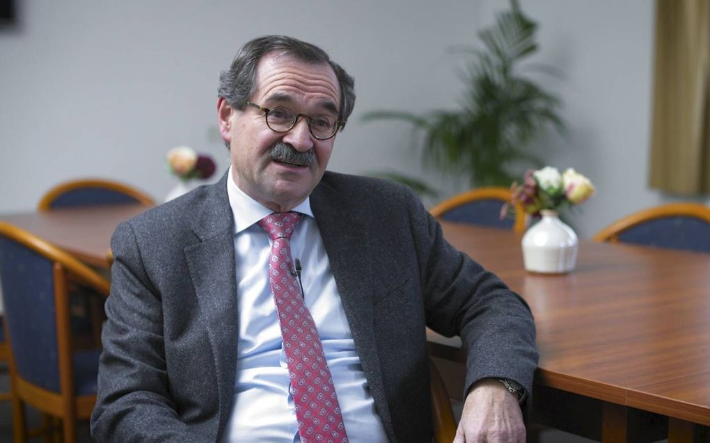 Voorzitter van de generale synode, ds. Schenau. beeld Klomp Creative