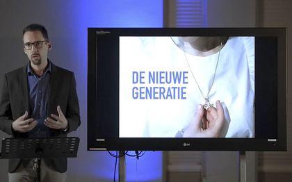 David van Wijck sprak donderdag tijdens de onlineontmoetingsdag van Stichting Israël en de Bijbel.beeld RD