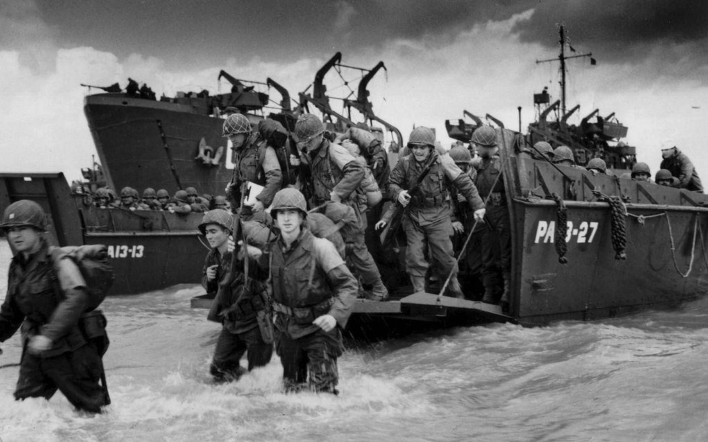 Operatie Tiger op 27 april 1944. Het was de generale repetitie voor D-Day op het strand van Slapton Sands in Devon, Zuid-Engeland. beeld National Archives USA