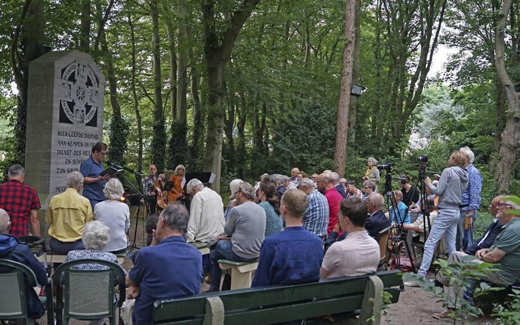 Bijeenkomst over Thomas a Kempis zaterdag op de Agnietenberg. beeld Bert Pierik