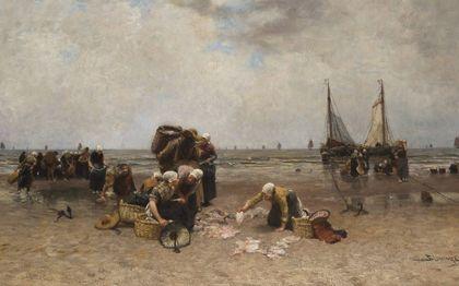 Thuiskomst van de vissersvloot, Bernard Blommers (1845-1914).beeld Particuliere collectie Nederland