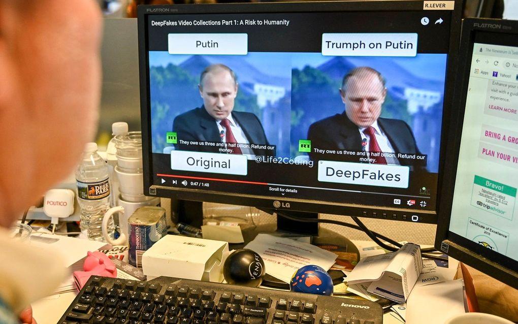 Nepnieuws en complottheorieën krijgen er dankzij deepfakes een nieuwe dimensie bij. beeld AFP, Alexander Robinson