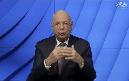 WEF-grondlegger Klaus Schwab. beeld AFP, World Economic Forum