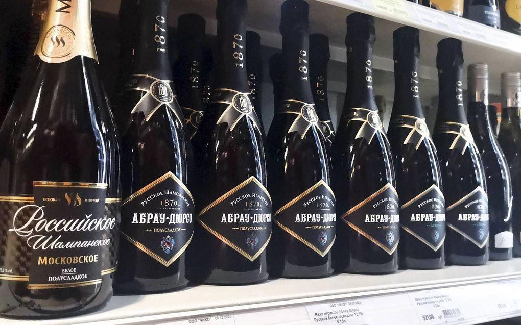 Russische 'champagne'.beeld AFP, Alexander Nemenov