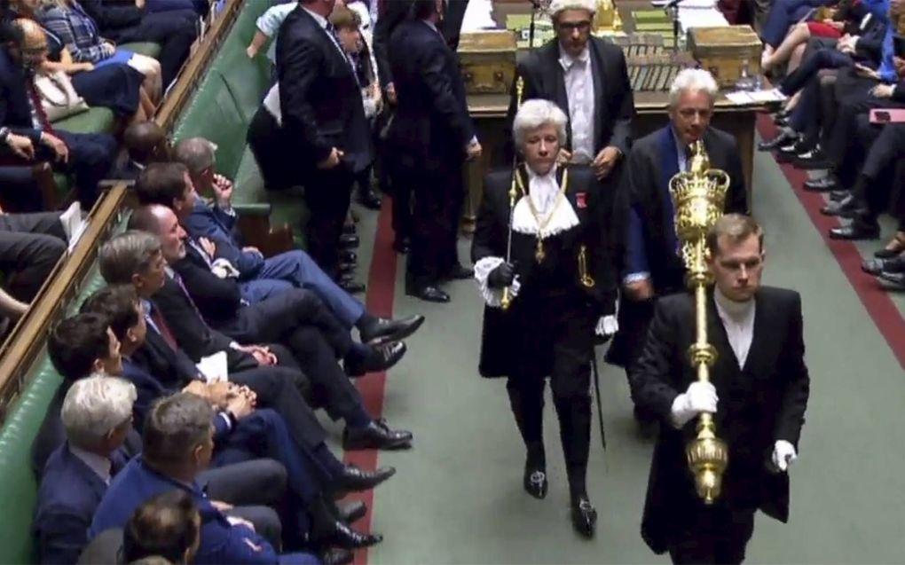 De koninklijke gezant kwam op 9 september meedelen dat het parlement werd verdaagd. beeld AFP